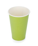 Green paper coffee cup Stock Images