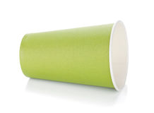 Green paper coffee cup Stock Photos