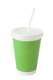 Green paper cup Stock Images