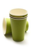 Green paper cups Royalty Free Stock Photo