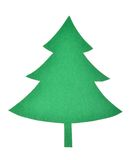 Christmas tree. Green paper cut out Christmas tree Royalty Free Stock Photo