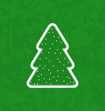 Green paper cut-out christmas tree Stock Image