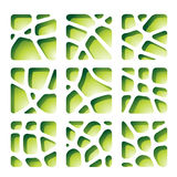 Green Paper Cutouts Stock Image