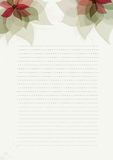 Green paper  design template with flowers Royalty Free Stock Photos