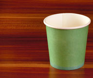 Green paper disposable cups Royalty Free Stock Photo