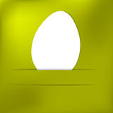 Green Paper easter egg card. + EPS8. Vector file Stock Illustration