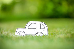 Green paper eco car Stock Photography