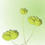 Green paper flowers, vector Royalty Free Stock Images