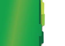 Green paper folder files. Green set of paper folder files Royalty Free Stock Photos