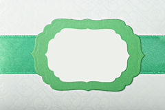 Green paper frame Royalty Free Stock Images