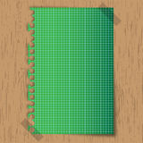 Green paper graph Stock Image