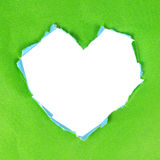 Green paper heart Stock Image