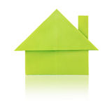 Green paper house Royalty Free Stock Photos
