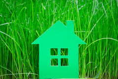 Green paper house Royalty Free Stock Images