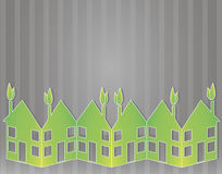 Green paper houses Royalty Free Stock Photos