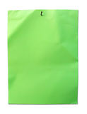 Green paper with nail Stock Images