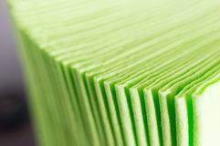 Green paper napkins Stock Photos
