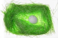 Green paper  nest Stock Image