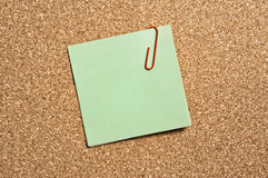 Green Paper Note Stock Images