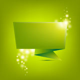 Green Paper Origami Royalty Free Stock Photo