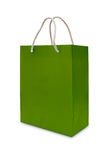 Green paper shopping bag isolated Royalty Free Stock Image