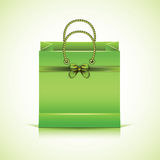 Green paper shopping bag. Royalty Free Stock Photo