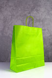 Green Paper Shopping Bag Stock Photo