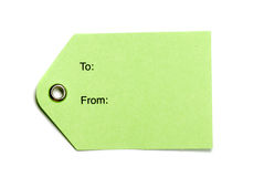 Green Paper Tags Royalty Free Stock Image