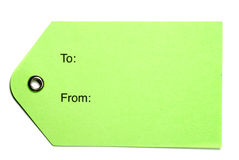 Green Paper Tags Royalty Free Stock Photography