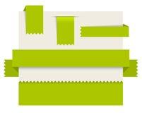 Green paper tags -  ribbons Stock Photo