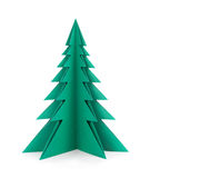 Green paper tree.  Clipping patch Royalty Free Stock Photo