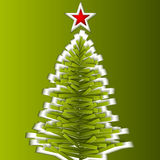 Green paper vector Christmas tree Royalty Free Stock Photography