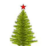Green paper vector Christmas tree Stock Image