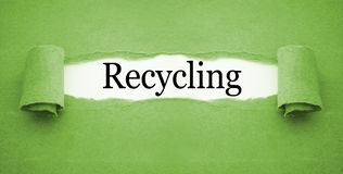 Paper work with recycling. Green Paper work with recycling royalty free stock images