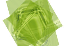 Green papers. Green waved papers on the white background Royalty Free Stock Photography