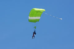 Green parachute Stock Photos