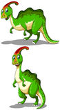 Green parasaurolophus standing and bending down Royalty Free Stock Photography