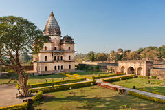 Green park with ancient building in India Stock Photography