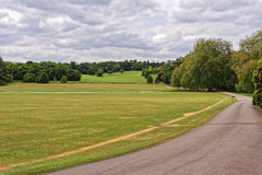 Green Park of Audley End House in Essex in England Royalty Free Stock Photo