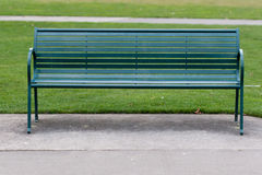 Green Park Bench Royalty Free Stock Photography