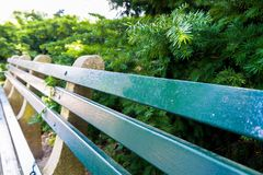 Park bench in perspective Royalty Free Stock Image