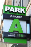 Green Park Garage Sign Stock Photos