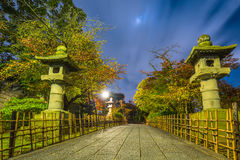Green park in Kyoto at night. Japan Royalty Free Stock Photos