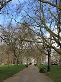 Green Park in London. Park that is quite close to Buckingham Palace Royalty Free Stock Photo