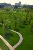 Green park in Minneapolis. Downtown stock photos
