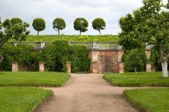 Green Park in Petergof Stock Photo