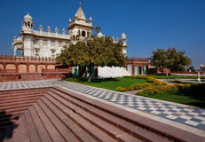 Green park and royal mausoleum Jaswant Thada built in 1899 Royalty Free Stock Photography