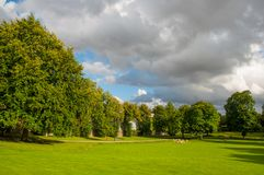 Park in town of Ringsted in Denmark. Green park in town of Ringsted in Denmark Stock Photography