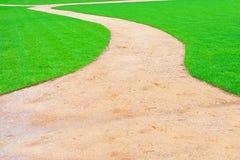 Green park way Stock Image