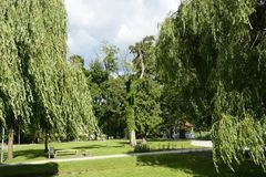 Green parks in Poland Royalty Free Stock Photos